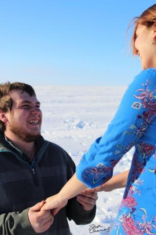 Mirrissa and Wyatt Hunter Engagement Photo