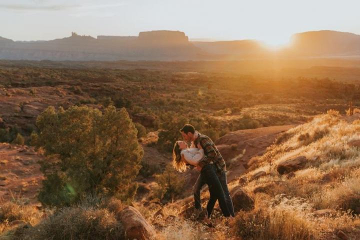 Miranda Hutcheson and Brian Beaudin Engagement Photo