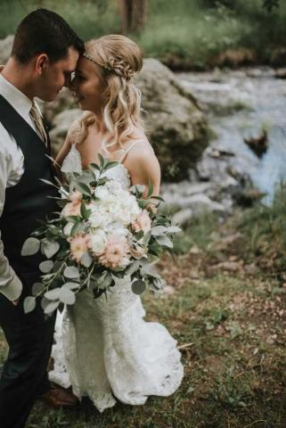 Hannah and James Rasmussen Wedding Photo