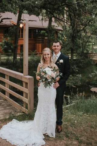Hannah and James Rasmussen Wedding Photo