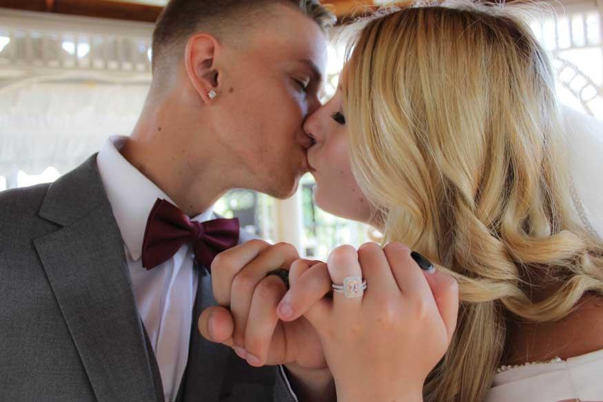 Montana and Zachary Krochta Wedding Photo