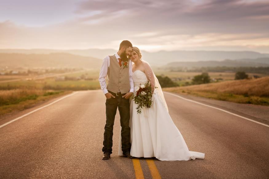 Josie and Josh Frank Wedding Photo